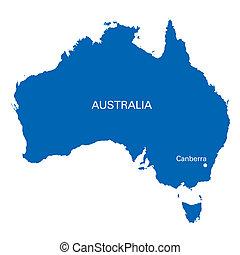blu, australia, mappa