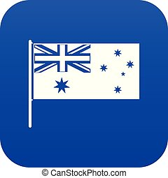 blu, australiano, icona, bandiera, digitale