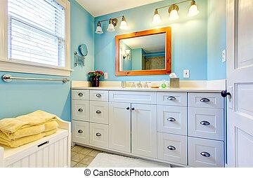 blu, bagno, lotti, magazzino, space., bianco