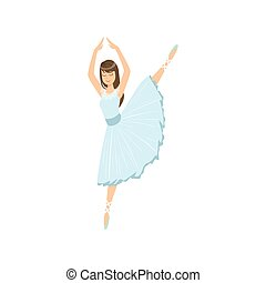 blu, balleria, gamba, compiendo, altalena, vestire