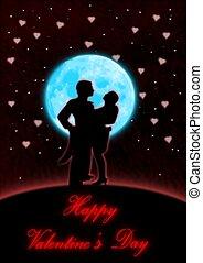 blu, ballo, valentina, luna