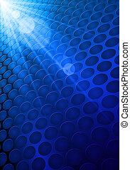 blu, baluginante, fondo