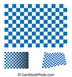 blu, bandiera, checkered