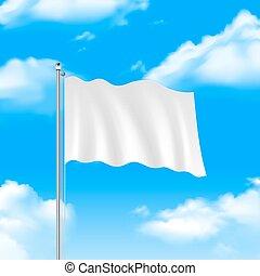 blu, bandiera, cielo