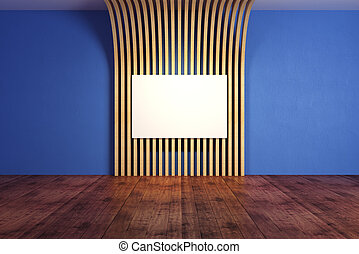 blu, bandiera, stanza