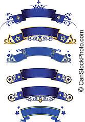 blu, bandiere