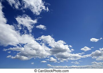 blu, bello, cielo, con, nubi bianche, in, giorno pieno sole