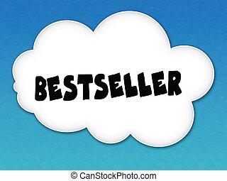 blu, bestseller, cielo, fondo., bianco, messaggio, nuvola