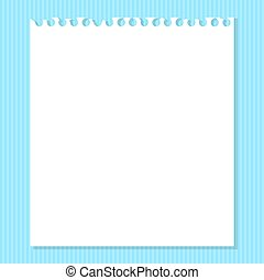 blu, bianco, carta, pezzo