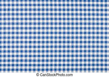 blu, bianco, checkered tovaglia