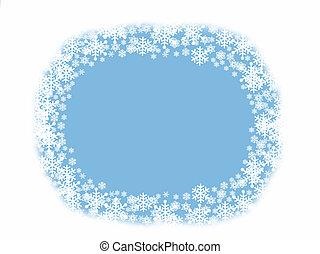 blu bianco, fiocco di neve, fondo