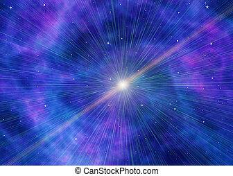 blu, bianco, lampo, sfondi, spazio