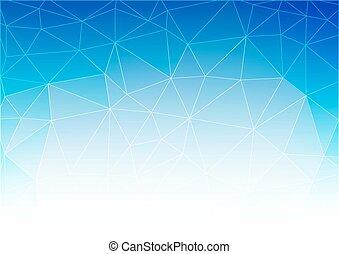 blu, bianco, luce, polygonal, mosaico, fondo, vettore, illustrazione, affari, disegnare sagome