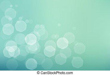 blu, bokeh, verde, jentle, fondo