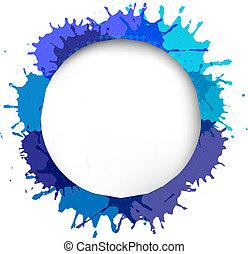 blu, bolla discorso, goccia