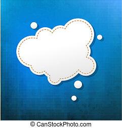 blu, bolla, discorso, struttura