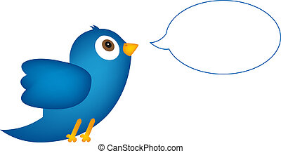 blu, bolla, discorso, uccello