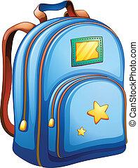 blu, borsa, scuola