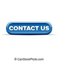 blu, bottone, contattarci, vettore
