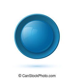 blu, bottone, lucido, icona
