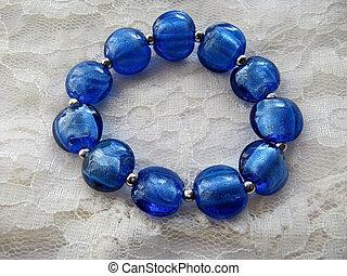 blu, braccialetto