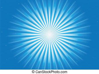 blu, brillare, raggi, radiale