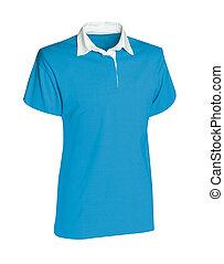 blu, camicia bianca, isolato