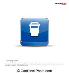 blu, cancellare, bottone, -, icona, 3d