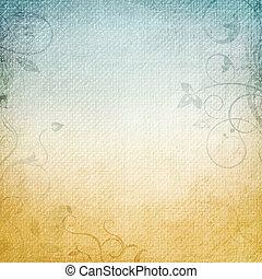 blu, carta, sfondo beige