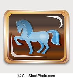 blu, cavallo
