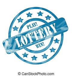 blu, cerchi, lotteria, alterato, francobollo, stelle