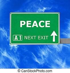 blu, chiaro, pace, cielo, contro, segno, strada