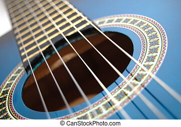blu, chitarra, musica, gioco, festa
