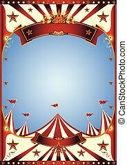 blu, circo, cielo