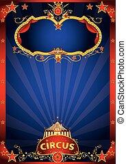 blu, circo, fantastico, evento