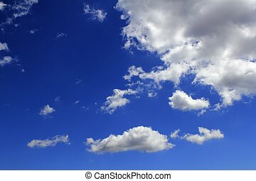 blu, cloudscape, nubi, pendenza, cielo, fondo