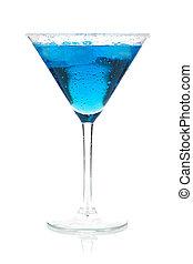 blu, -, cocktail, collezione, martini