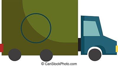 blu, colorato, colorare, luce, indietro, illustrazione, relativo, vettore, camion, verde, o, rosso