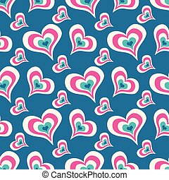 blu, colorato, valentine, modello, seamless, illustrazione, giorno, alto, vettore, disegno, fondo, cuori, qualità, tuo