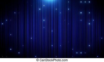 blu, condotto, vj, fondo, animato, brillare