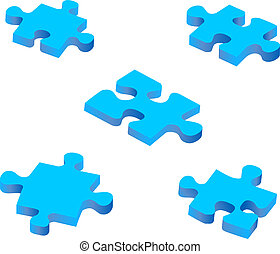 blu, confondere pezzi
