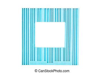 blu, cornice, bianco, isolato