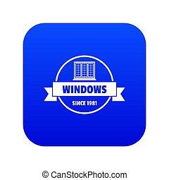 blu, costruzione, decotrative, icona