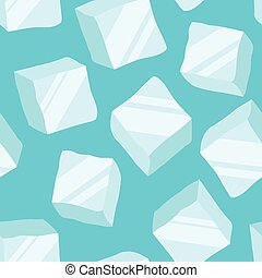 blu, cubi, fondo, ghiaccio