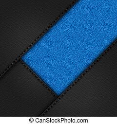 Grafico, zipper., cuoio, stivali, nero, 3d. Grafico, zipper