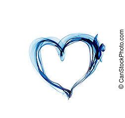 blu, cuore