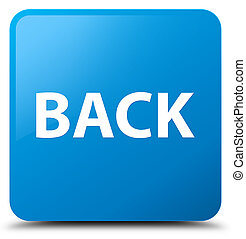 blu, cyan, bottone, quadrato, indietro
