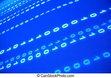blu, dati, spazio