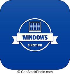 blu, decotrative, costruzione, vettore, icona