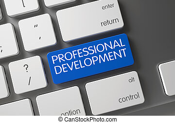blu, development., bottone, -, tastiera, professionale, 3d.